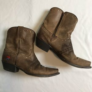 Redneck Riviera 100% Leather Ankle Western Boots